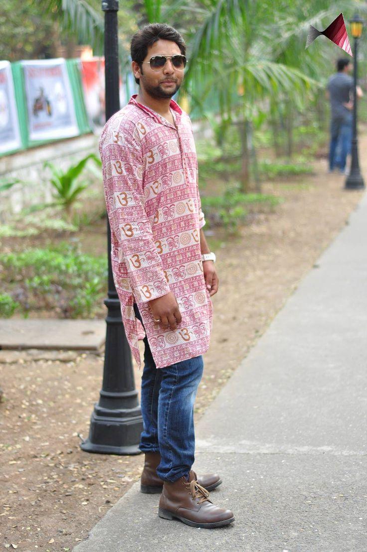 Kaushal Verma effortlessly pulled off the kurta and boots combo! #realpeoplerealfashion @ Mood Indigo, IIT Bombay