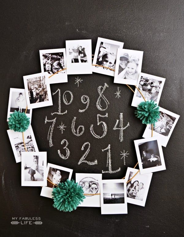 Make your own Instagram Wreath to show off all your fun memories from the last year! #NewYear