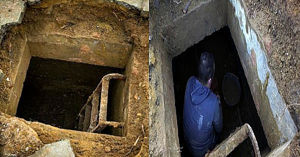 Man ontdekt geheime trap in zijn achtertuin – Maar dan gaat hij naar binnen en ziet hij…