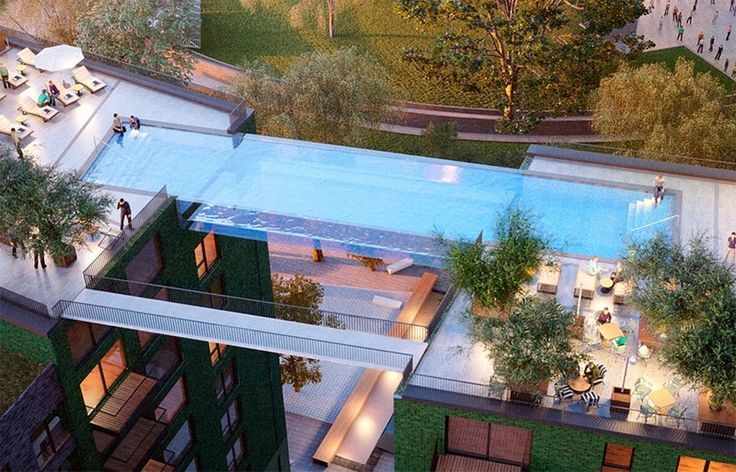 "Massive ""Sky Pool"" in London Seemingly Floats 10 Stories Above the Ground"