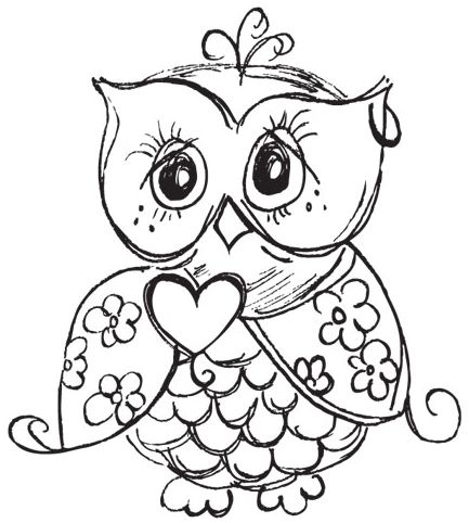 62 best Color Me Calm OWLS images on Pinterest Drawings Owl