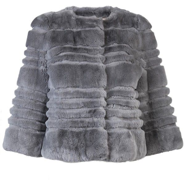 YVES SALOMON Rex ribbed jacket ($1,895) ❤ liked on Polyvore