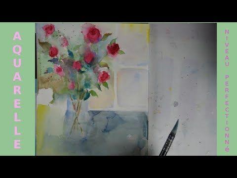 Peindre Un Bouquet De Roses A L Aquarelle Youtube Aquarelle