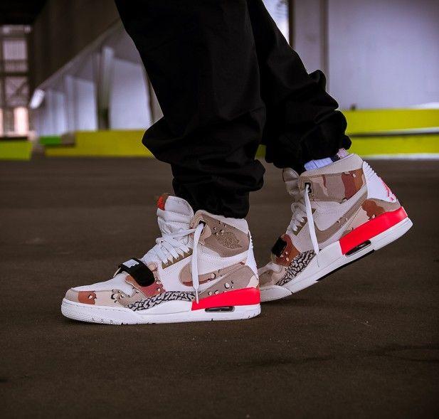 Beiger Nike Air Jordan Legacy 312 Camo Sail Desert Camo Infrared Als Mashup Legendarer Air Jordan Sneakers Men Fashion Mens Fashion Casual Shoes Air Jordans