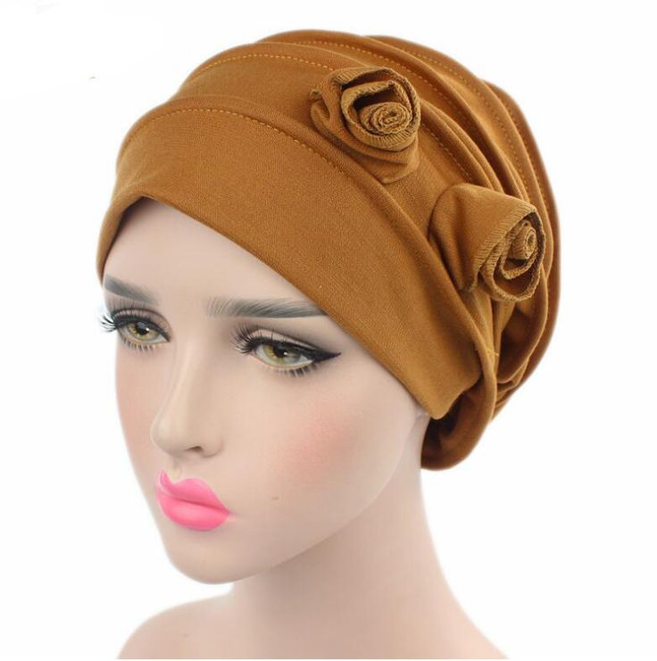 >> Click to Buy << 2017 Fashion Women Hats Two Flower Women's Beanies Hats Turban Hats Skullies Hair Accessory Bandana Hair Cover Chemotherapy Hats #Affiliate