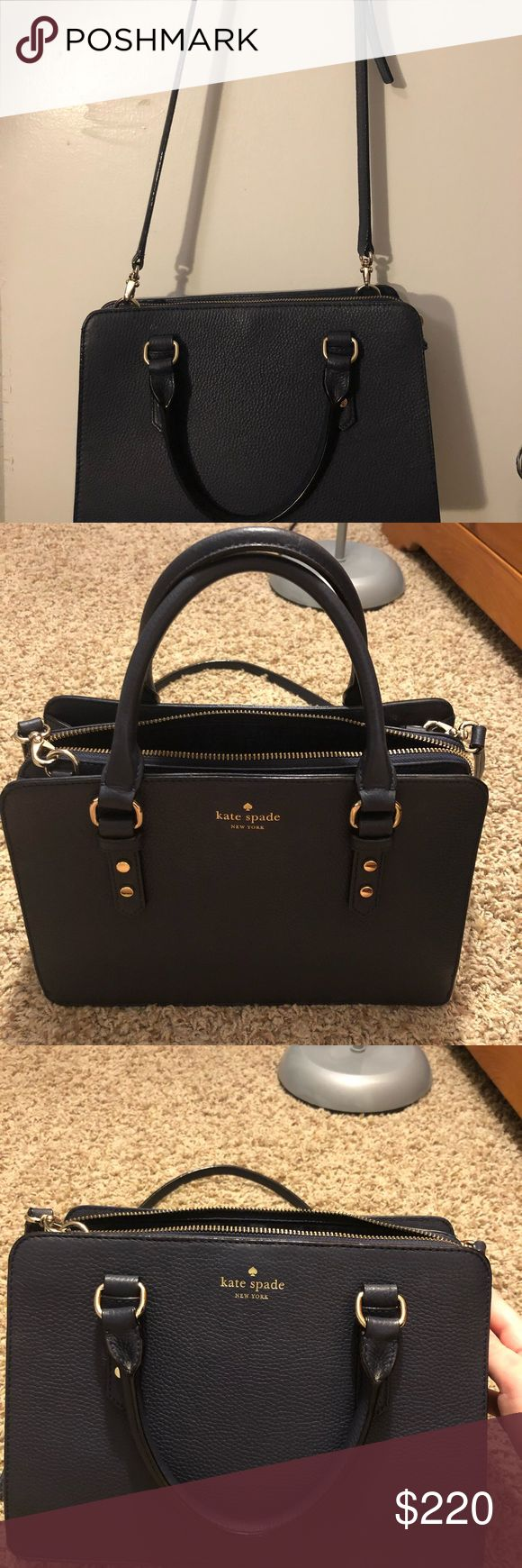 Kate Spade Navy Blue Purse Navy blue handbag or crossbody. Removable strap. Perfect condition. No scratches or fading. kate spade Bags Shoulder Bags