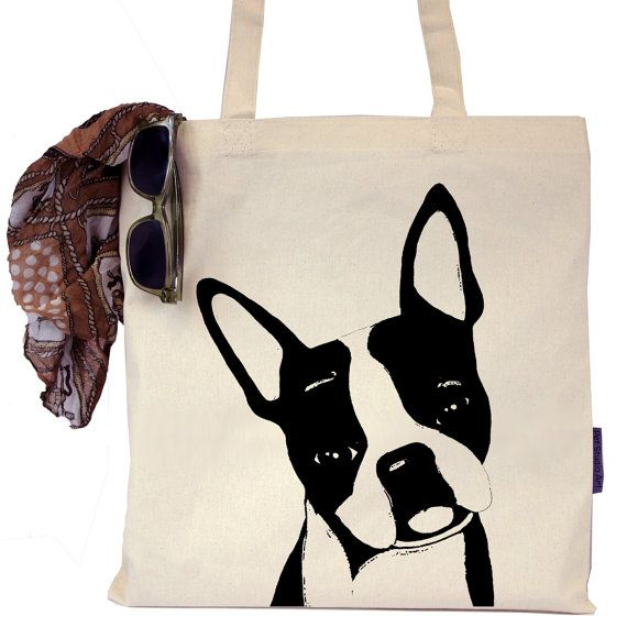 This tote bag is the perfect accessory for any pet lover! Featuring Duke, an adorable rescued Boston Terrier, this bag is sure to be a great conversation piece while reminding you of your furry friend all day long! Each of our tote bags is hand-printed in Austin, TX and features an original design by Stephanie Conrad of Pet Studio Art. Our models are amazing rescue animals that have been adopted (or for a select few, are looking to be adopted) through one of the amazing animal charities we…