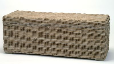 """Wicker Storage Bench """"Kubu""""  