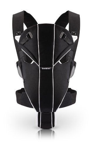 Babybjorn Miracle Baby Carrier, Black/Silver. All nifty lookin for daddy to not feel so mommy-like!