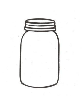 Mason jar silhouette.   Cooking - Recipe Binder   Pinterest