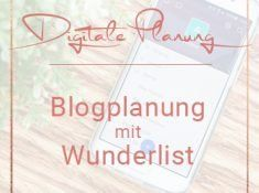 Blogplanung mit Wunderlist Miss Konfetti