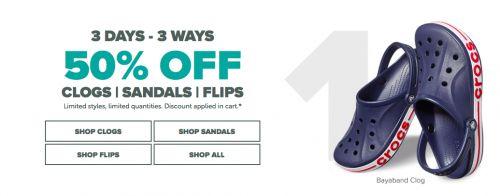 Crocs Canada Sale: 50% Off Clogs Sandals Flip-Flops http://www.lavahotdeals.com/ca/cheap/crocs-canada-sale-50-clogs-sandals-flip-flops/213477?utm_source=pinterest&utm_medium=rss&utm_campaign=at_lavahotdeals
