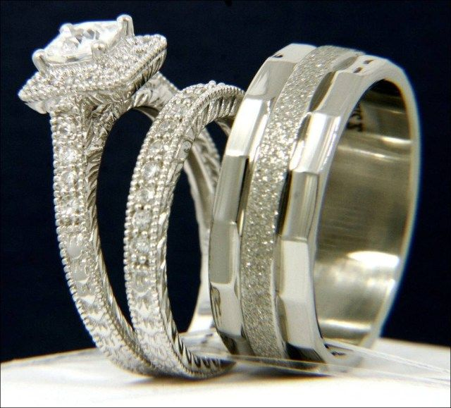 bride and groom wedding ring sets 31