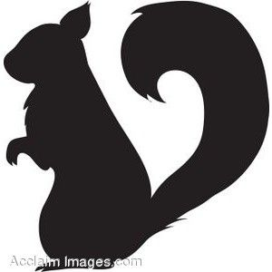 My favorite squirrel to use as a stencil :)