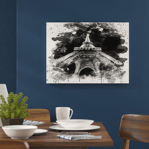 Wildon Home 'Eiffel Tower Paris France' Graphic Art Print Poster