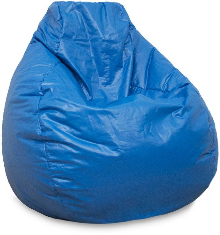 Gold Medal Large Teardrop Faux Leather Bean Bag Chair