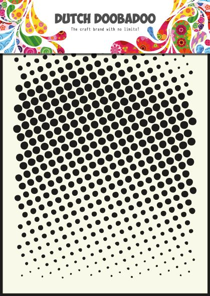 470.715.004 Dutch Doobadoo Mask Art Faded Dots Formaat A5