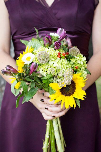 Sunflower bouquet  erinforehandphotography.com