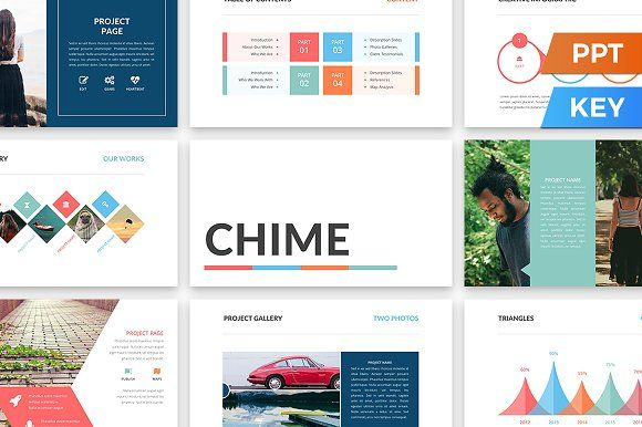 Chime Presentation Template by SlideStation on @creativemarket