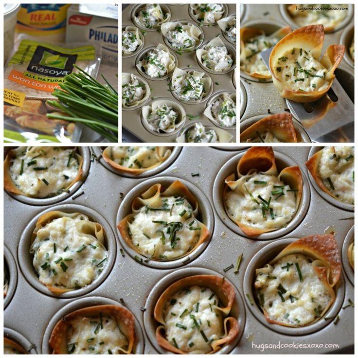 Bouchées de crabe dans une pâte Won ton - Recettes - Recettes simples et géniales! - Ma Fourchette - Délicieuses recettes de cuisine, astuces culinaires et plus encore!