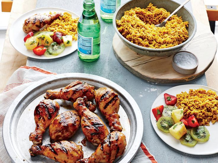 You'll find everything but the tiki torch in this updated retro classic. Give the drumsticks a head start on a hot grill pan; then lower...