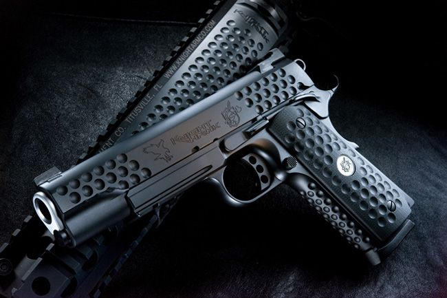 Knighthawk 1911. A custom 1911 jointly designed and made by Nighthawk Tactical and Knights Armament.