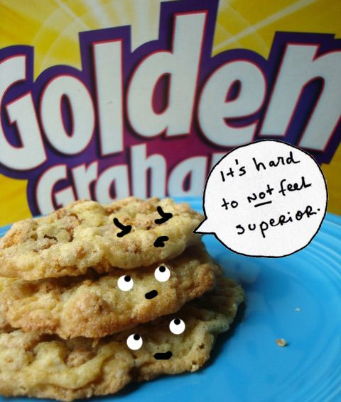 OMG...yum.  Seeking Sweetness in Everyday Life - CakeSpy - Crammed with Graham: Golden GrahamsCookies