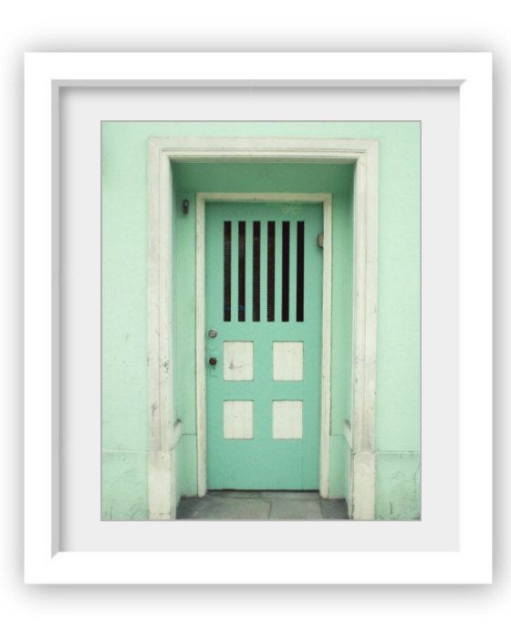 Mint green wall art San Francisco architecture door print pastel stripes house door  Mint Door  & The 25+ best Mint door ideas on Pinterest | Mint paint colors ... pezcame.com