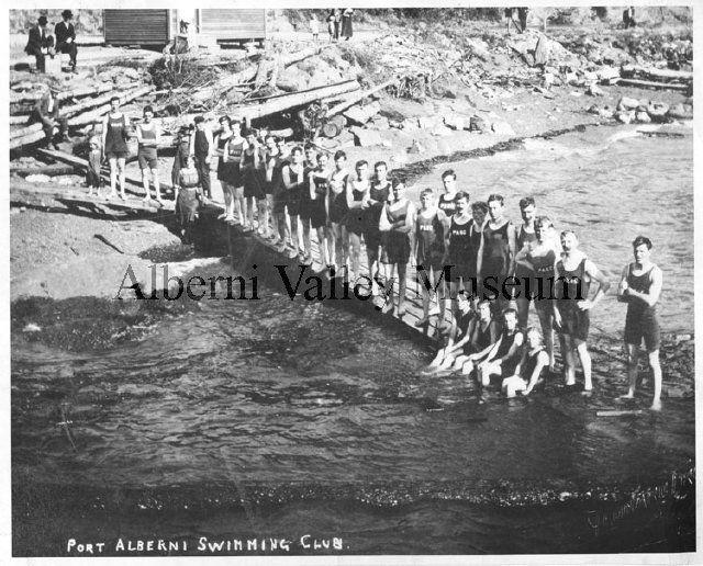 PN 00307  Port Alberni Swimming Club, 1912.  [Alberni Valley Museum Photograph Collection]
