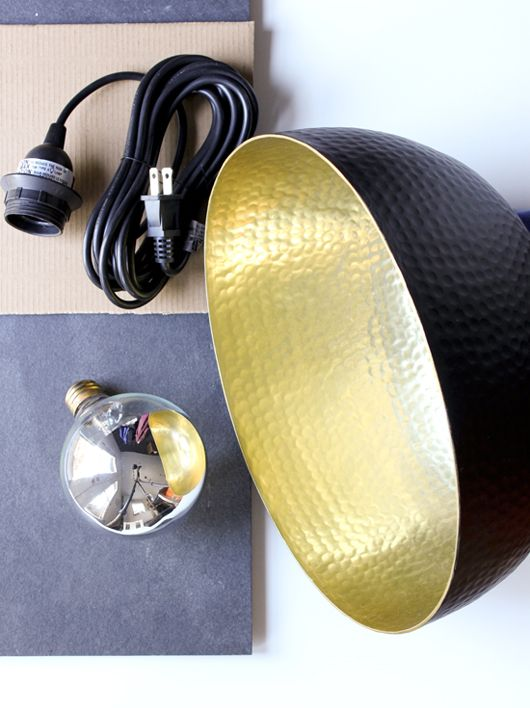 """A super-easy DIY to turn an IKEA bowl into a Tom Dixon Beat Light lookalike"" (photo by Emma Reddington)"