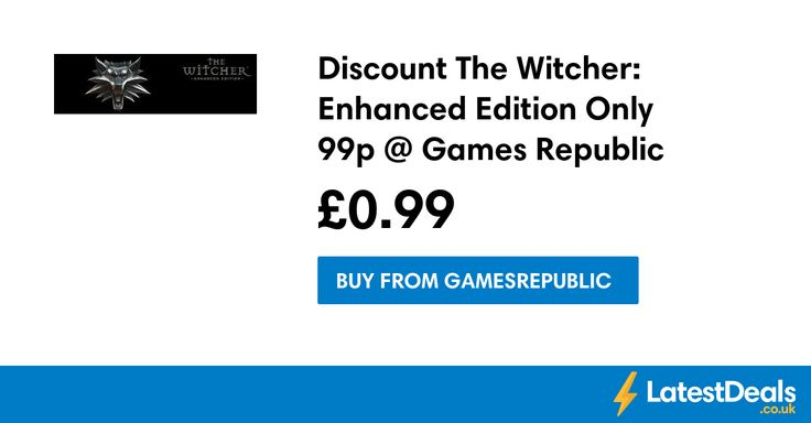 Discount The Witcher: Enhanced Edition Only 99p @ Games Republic, £0.99 at Gamesrepublic