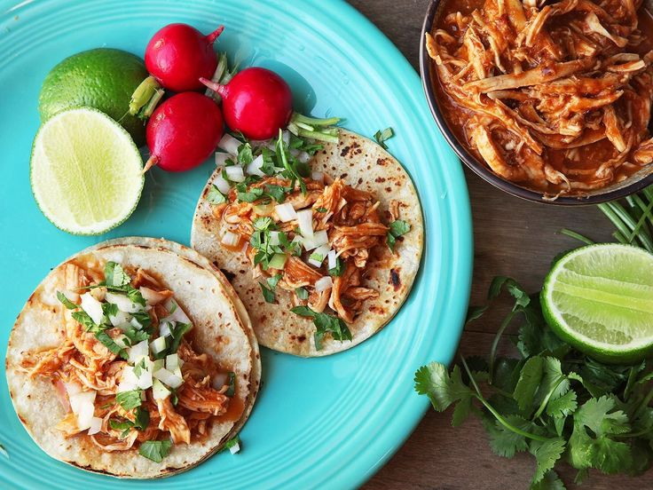 Though tinga is traditionally flavored with chorizo, this quick and easy version still packs in the flavor, without having to seek out special ingredients. The chicken is gently poached in broth then shredded and tossed with a pureed sauce for extra-juicy texture and flavor.