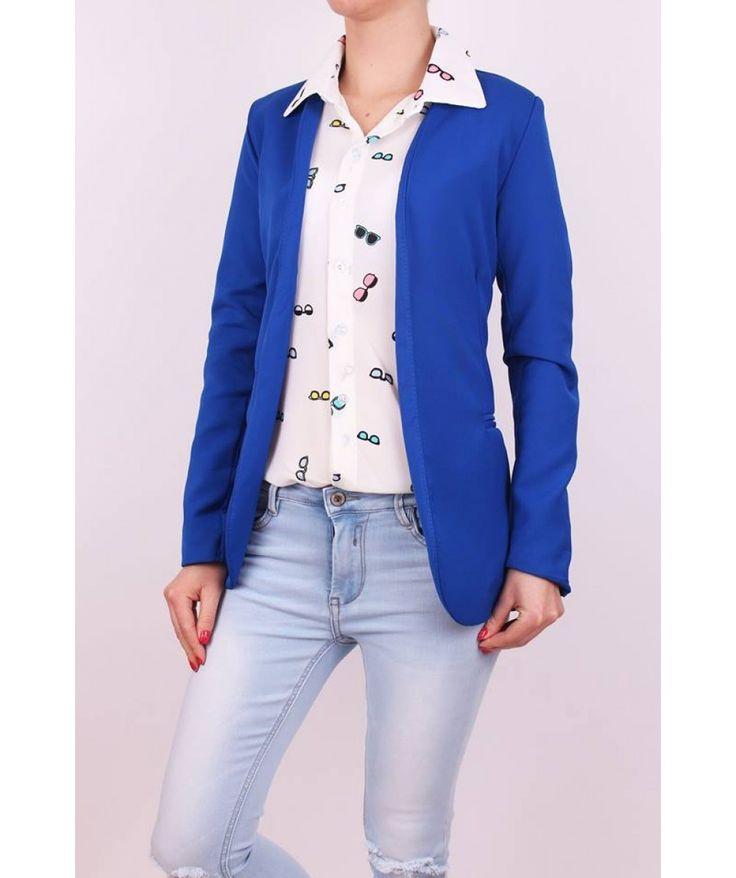 Elegantné dámske sako modré