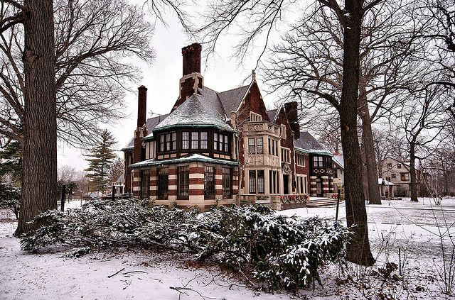 Charles T. Fisher home in historic Boston-Edison district, Detroit.