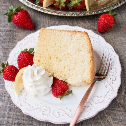 This classic chiffon cake is soft, tender, and light as air. It's similar to an angel cake, but more moist and flavorful.