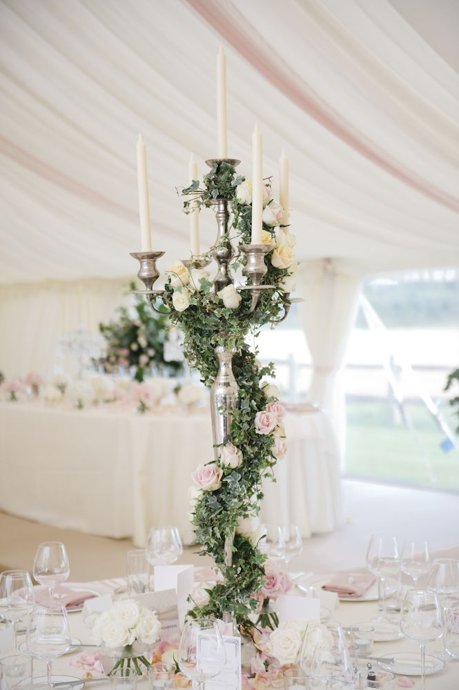Looking for tall wedding centerpieces for elegant wedding,this beautiful wedding in English country side in their own backyard,pink wedding centerpieces arrange in tall vase