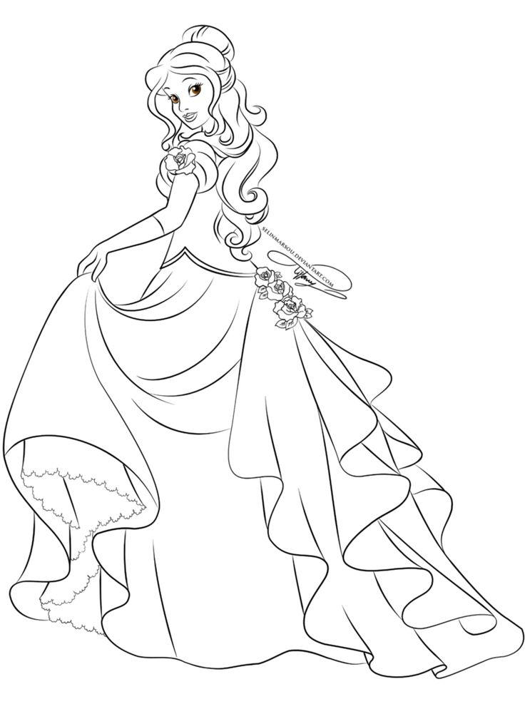 Lineart Glamorous Fashion Belle