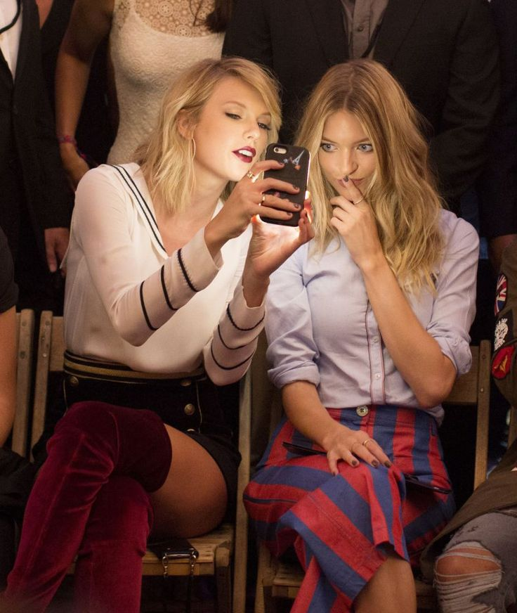 Taylor and Martha Hunt at the Gigi Hadid for Tommy Hilfiger fashion show during New York Fashion Week 09.9.16