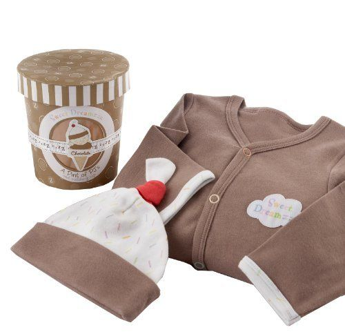 Baby Aspen Sweet Dreamzzz Pint of PJ's Sleep Time Gift Set, 0-6 Months, Chocolate by Baby Aspen. $15.51. From the Manufacturer                Baby Aspen brings you the baby gift of choice for those with extraordinary taste. As unique as it is this adorable two piece bedtime gift set has everything. This includes the cherry on top, PJ's sport an appliquéd cloud that says Sweet Dreamzzz with each letter embroidered in a different cheerful pastel color. This also fea...