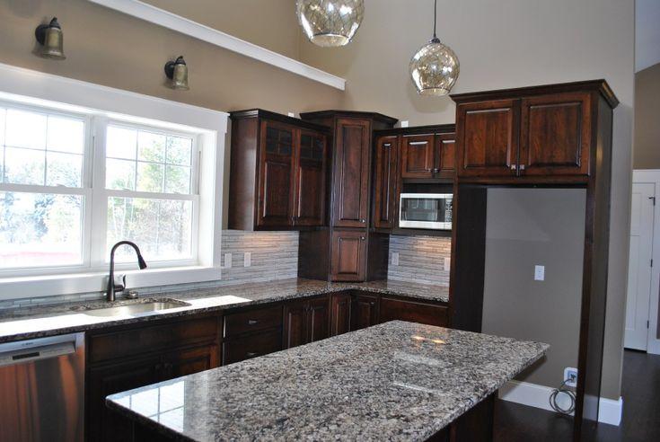 Best Dark Brown Kitchen Cabinets Granite Counter Tops White 400 x 300