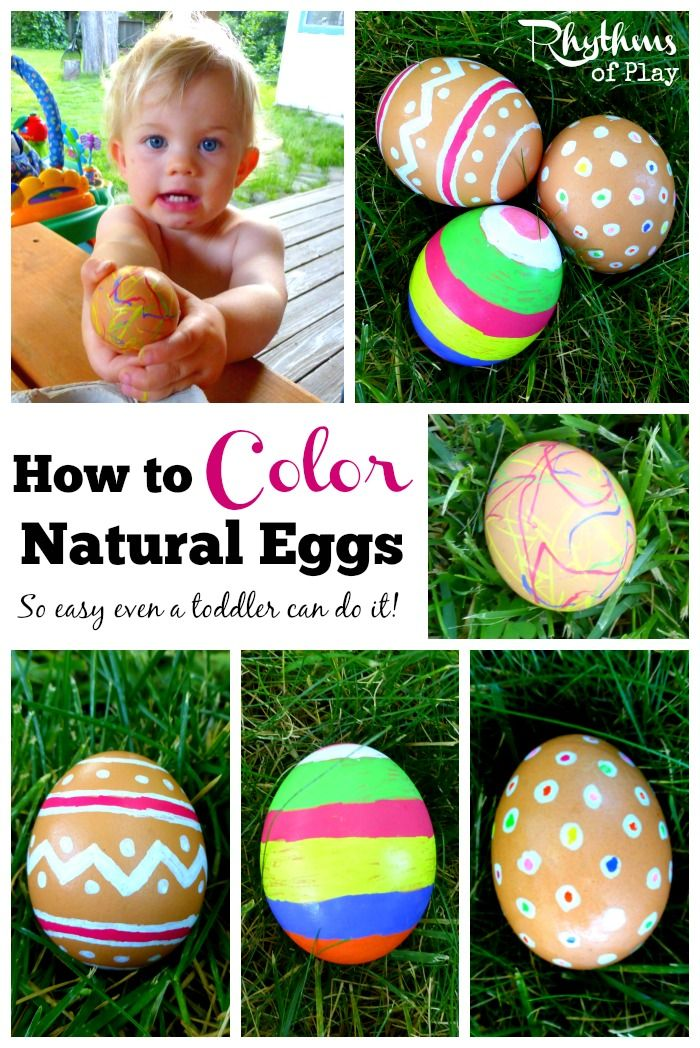 It's really easy to color natural brown eggs for Easter! All you need is this simple trick and the desire to get creative. So easy even a toddler can do it! Easter Ideas | Decorate Eggs | Easter Eggs