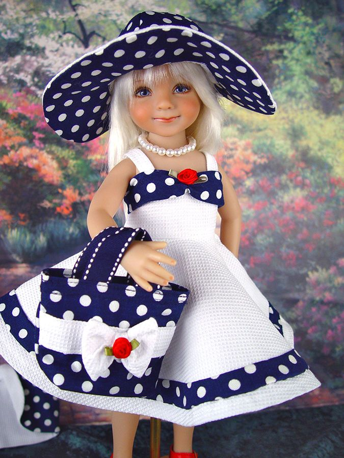 Dress fits Effner 13 Little Darling; Betsy McCall. * Little Charmers DollDesigns #Effner