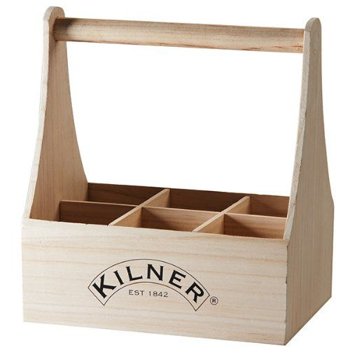 Kilner Drinkworks Wood 6 Bottle Caddy Carry Crate Gift Box for Home Brew Bottles