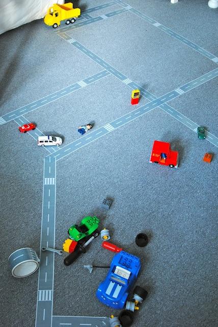 Smart bilbanetape til gulv/teppe