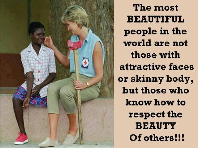 Lady D ~ The most beautiful people quote