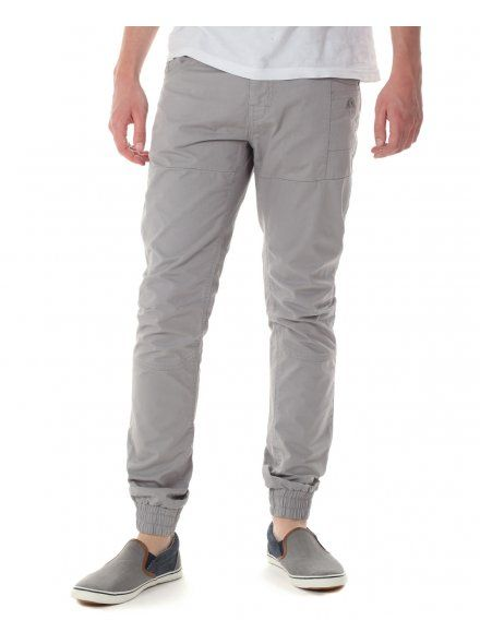 Twisted Soul Mens Light Grey Cuffed Chinos - NOW £10