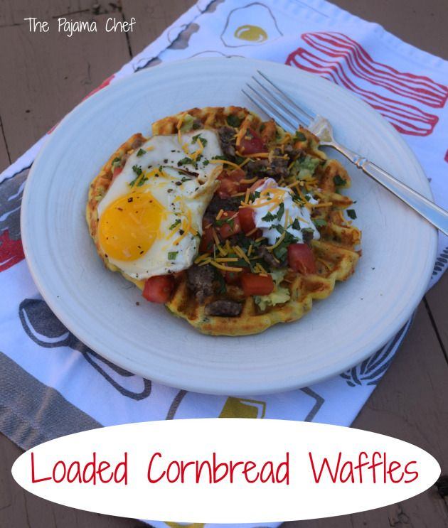 Herb Waffles With Sausage, Peppers, And A Fried Egg Recipe ...