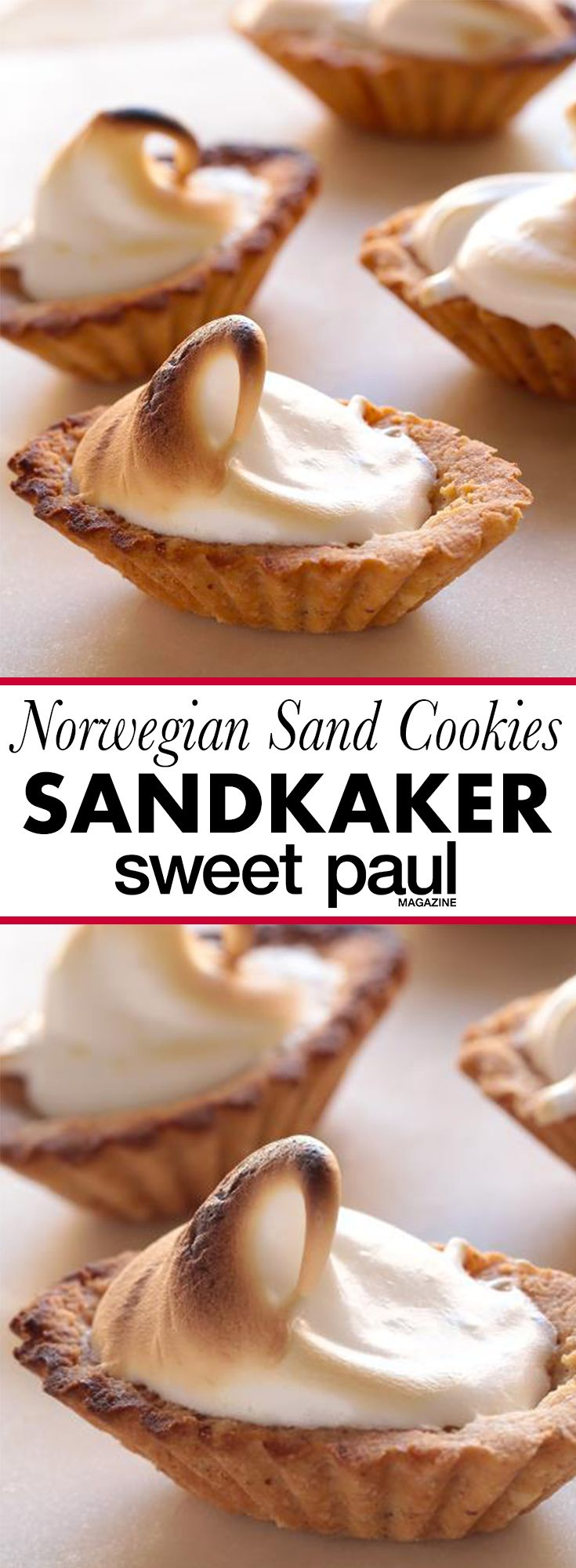 A classic Norwegian holiday cookie! They're not really made of sand!
