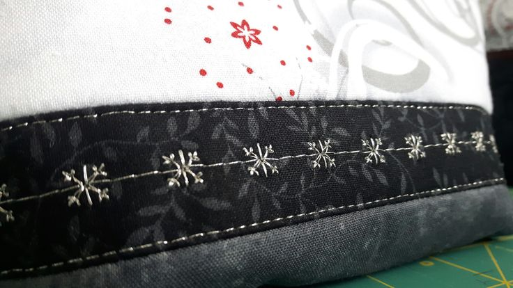 Detail. Open Wide Zippered Pouch.