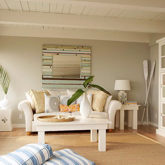 Beach Living Room Colors: Gray Color Schemes